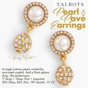 Pearl & Pavé Earrings